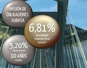 Publicidad Obligaciones Audasa 2013