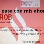 Ahorros en el banco popular