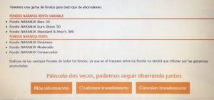 fondos naranja de ing