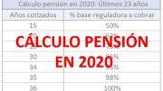 calculo pension 2020