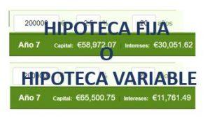 Hipoteca FIja o Hipoteca Variable
